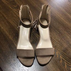 Nude tassel sandals